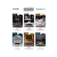 Hollywood Series / Release 14, 6pc Diecast Car Set 1/64 by Greenlight