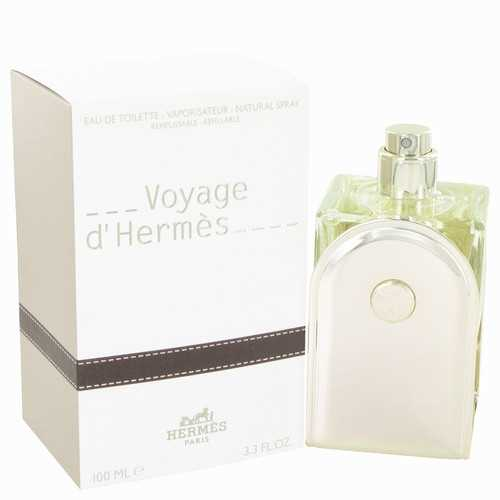 Voyage D'Hermes by Hermes Eau De Toilette Spray Refillable 3.3 oz (Men)