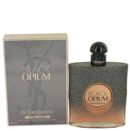 Black Opium Floral Shock by Yves Saint Laurent Eau De Parfum Spray 3 oz (Women)