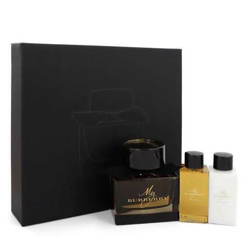 My Burberry Black by Burberry Gift Set -- 3 oz Eau De Parfum Spray + 2.5 oz Body Lotion + 2.5 oz Shower Gel (Women)