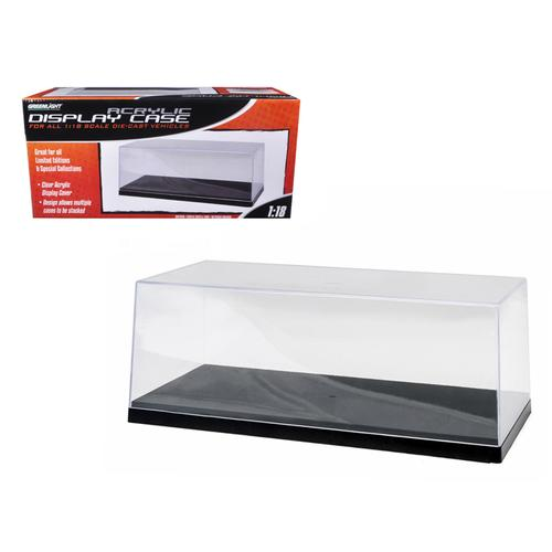 Collectible Display Show Case for 1/18-1/24 Models with Black Plastic Base by Greenlight