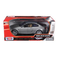 BMW M3 E92 Coupe Gray 1/18 Diecast Model Car by Motormax