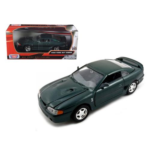 1998 Ford Mustang SVT Cobra Green 1/24 Diecast Car Model by Motormax