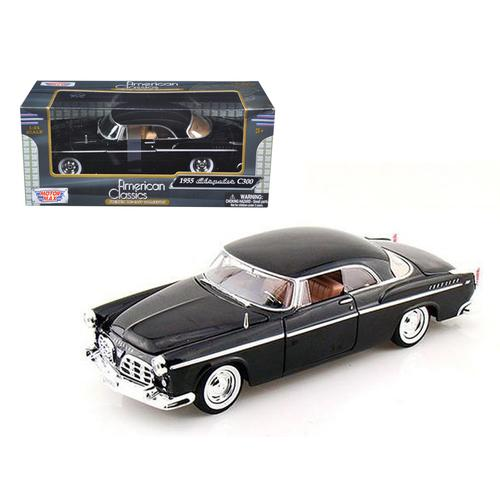 1955 Chrysler C300 Black 1/24 Diecast Model Car by Motormax