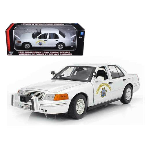 Ford Crown Victoria California Highway Patrol Car White 1/18 Diecast Model Car by Motormax