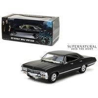 "1967 Chevrolet Impala Sports Sedan Black ""Supernatural"" (2005) TV Series 1/24 Diecast Model Car by Greenlight"