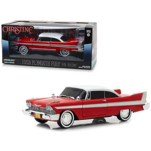 "1958 Plymouth Fury Red ""Evil Version"" (with Blacked Out Windows) ""Christine"" (1983) Movie 1/24 Diecast Model Car by Greenlight"
