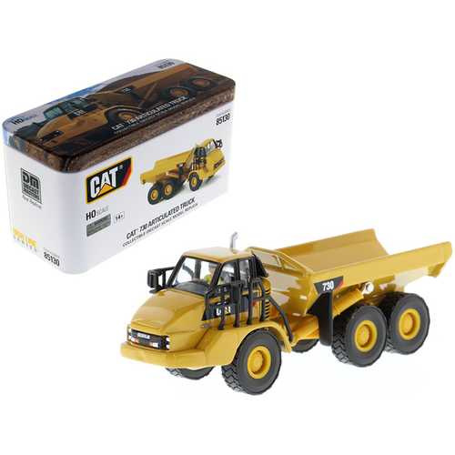 "CAT Caterpillar 730 Articulated Dump Truck with Operator ""High Line"" Series 1/87 (HO) Scale Diecast Model by Diecast Masters"