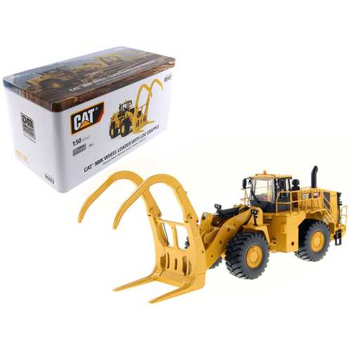 "CAT Caterpillar 988K Wheel Loader with Grapple with Operator ""High Line Series"" 1/50 Diecast Model by Diecast Masters"