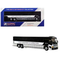 "MCI D4505 Motorcoach Bus ""County Department of Corrections"" 1/87 Diecast Model by Iconic Replicas"