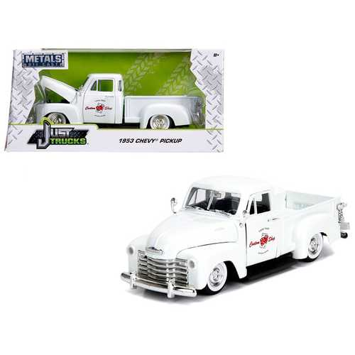 "1953 Chevrolet 3100 Pickup Truck White ""Custom Shop Classic Truck"" (Las Vegas, Nevada) ""Just Trucks"" Series 1/24 Diecast Model Car by Jada"