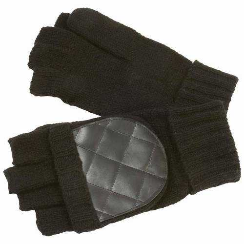 Men's Convertible Black Gloves/Mittens
