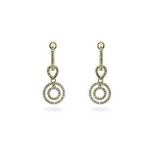 Yellow Gold Diamond Dangles