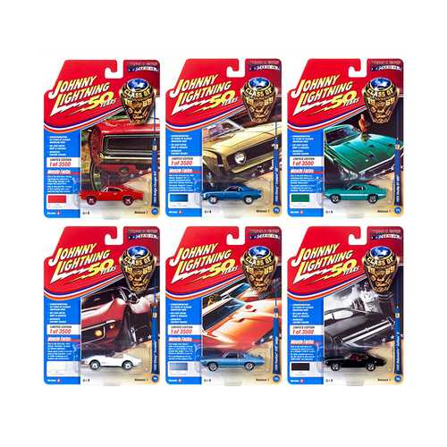 "Muscle Cars USA 2019 Release 1, Set A of 6 Cars ""Class of 1969"" 1/64 Diecast Models by Johnny Lightning"