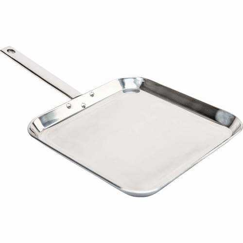 "11"" T304 High-Quality Stainless Steel Square Griddle"