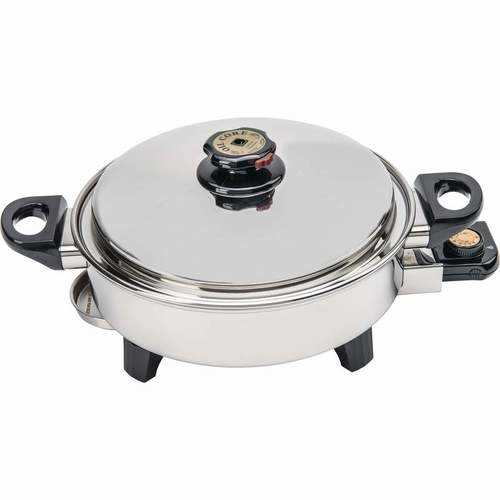 3.5qt T304 Stainless Steel Oil Core Skillet