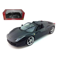 2012 2013 Ferrari Italia 458 Spider Matt Black 1/18 Diecast Car Model by Hotwheels