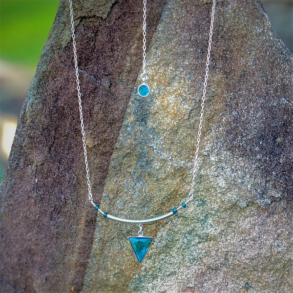 """Balance"" Necklace and Infinity Pendant Set"