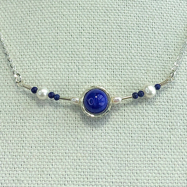 """Blue Halo"" Necklace and Infinity Pendant Set"