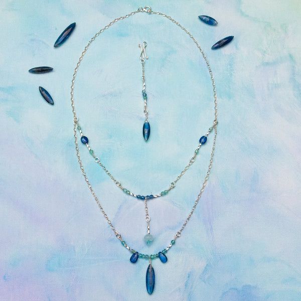 """Bluebird"" Necklace and Infinity Pendant Set"