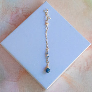 Kyanite Long Infinity Pendant
