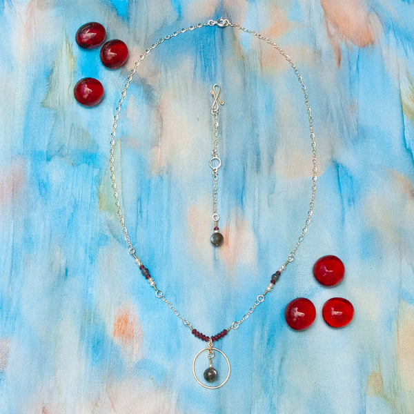 """Encircle"" Necklace and Infinity Pendant Set"