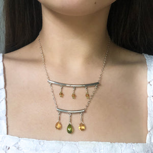 """Amalfi"" Necklace and Infinity Pendant Set"