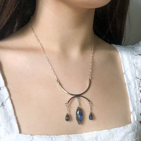 """Trapeze"" Necklace and Infinity Pendant Set"