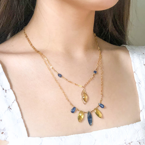 """Sunshine and Blue Skies"" Necklace and Infinity Pendant Set"