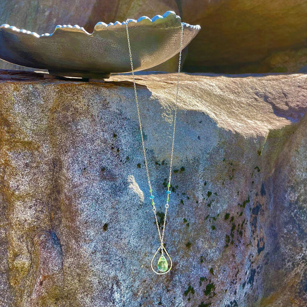 """Sea Mist"" Necklace and Infinity Pendant Set"