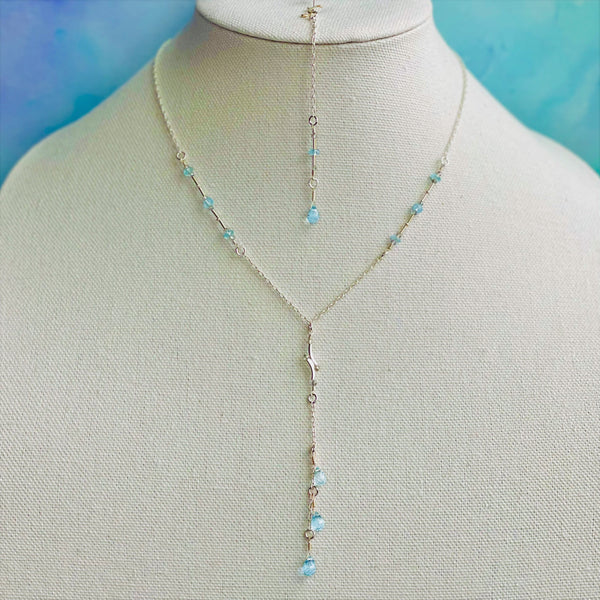 """Sky"" Necklace and Infinity Pendant Set"