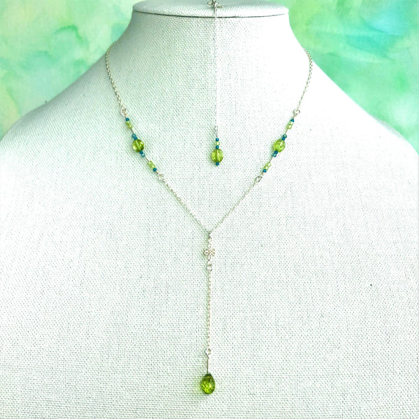 """Spring Leaves"" Necklace and Infinity Pendant Set"