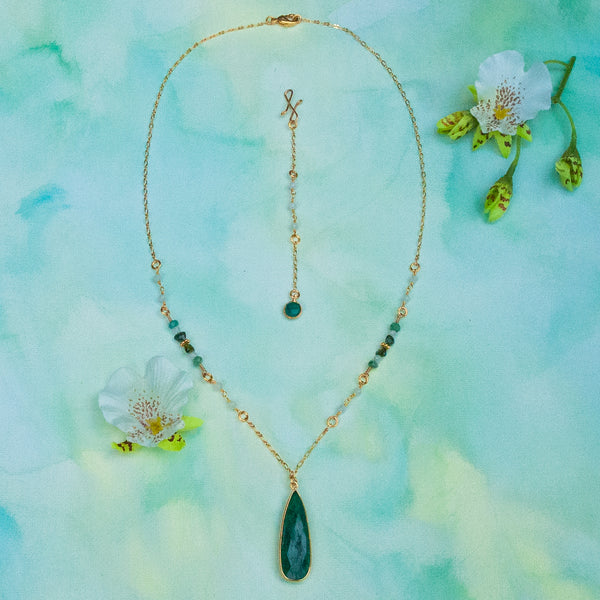 """Summer Forest"" Necklace and Infinity Pendant Set"
