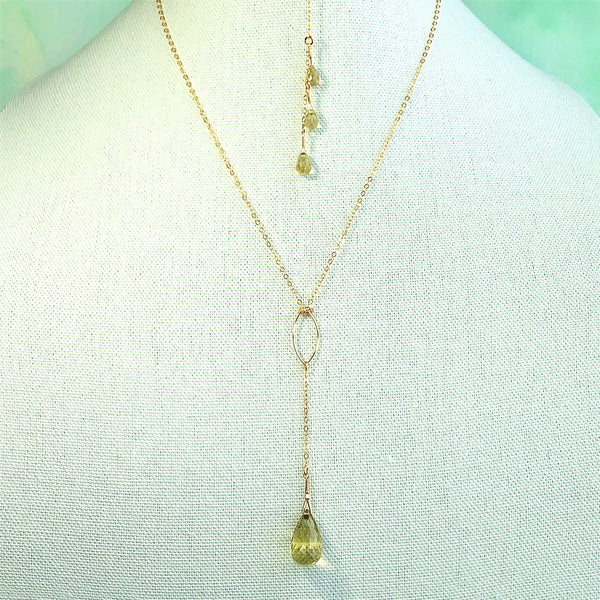 """Sundrop"" Necklace and Infinity Pendant Set"