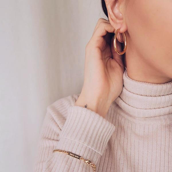 Ana Luisa Earrings Hoop Earrings Cuidado Hoop Earrings Gold
