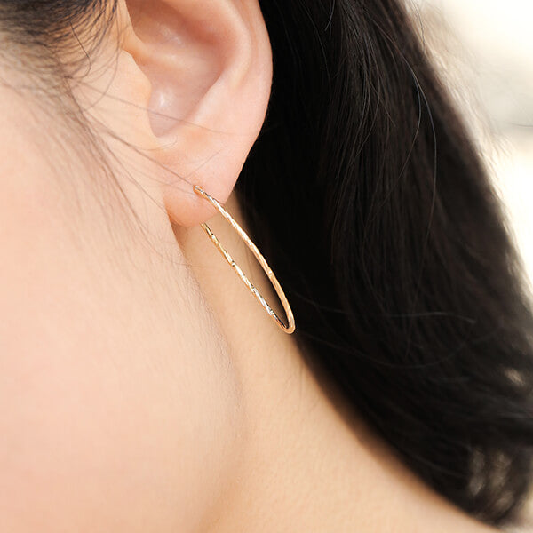 Ana Luisa Earrings Hoop Earrings Delicate Medium Chiara Gold