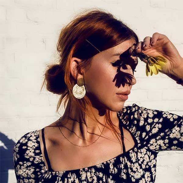 Ana Luisa Earrings Hoop Earrings Kinoko Gold Marble