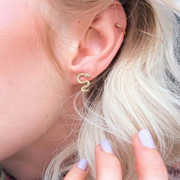 Ana Luisa Earrings Studs Delicate Earrings Snake Earrings Boa Gold