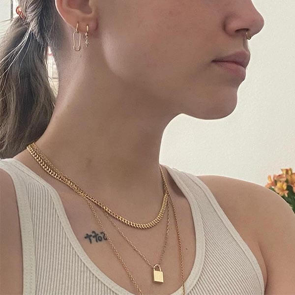 Ana Luisa Jewelry Necklaces Chain Necklace Curb Chain Necklace Adam Bold Gold Small