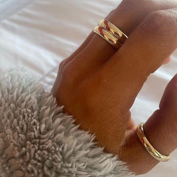 Ana Luisa Jewelry Rings Band Ring Double Band Ring Pareja Gold
