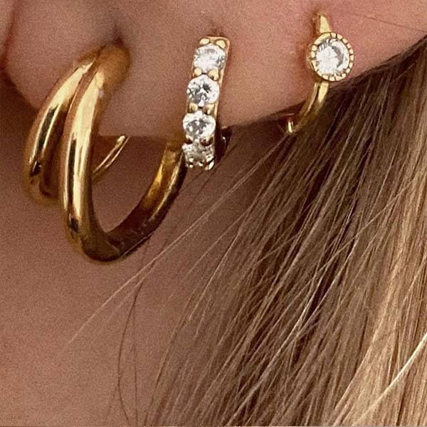 Ana Luisa Jewelry Earrings Hoop Earrings Gold Huggie Hoops Milo Gold