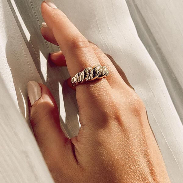 Ana Luisa Jewelry Rings Gold Twist Ring Rope Bold Gold