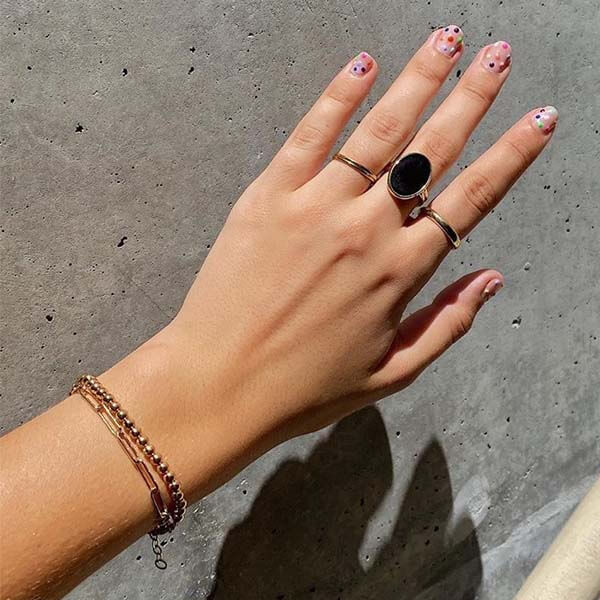 Ana Luisa Jewelry Rings Oval Stone Ring Mara Onyx Gold