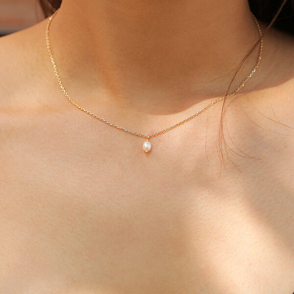 Ana Luisa Necklaces Pearl Necklace Mini Naomi Gold