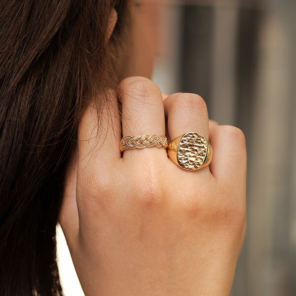 Ana Luisa Rings Band Ring Stacking Ring Chloe Gold