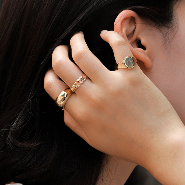 Ana Luisa Rings Band Rings Noa Gold Dome