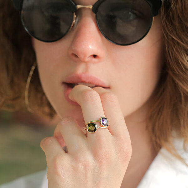 Ana Luisa Rings Gemstone Rings Stone Ring Palace Olive Green