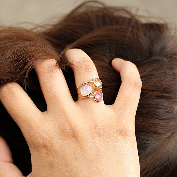 Ana Luisa Rings Gemstone Rings Stone Ring  Palace Opal White