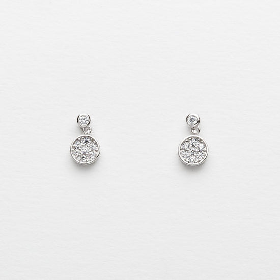 Sterling Silver Disco Stud Earrings