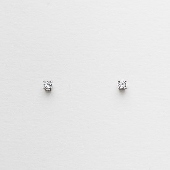 Pia Small Silver Stud Earrings